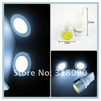 factory sale+50X T10 1W 194 168 SMD high power LED light Bulbs white