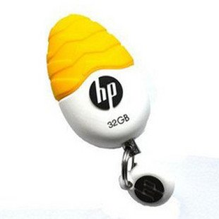 Free Shipping New USB2.0 Flash Drive Disk stick Yellow/White Egg design full 32GB HP V270W