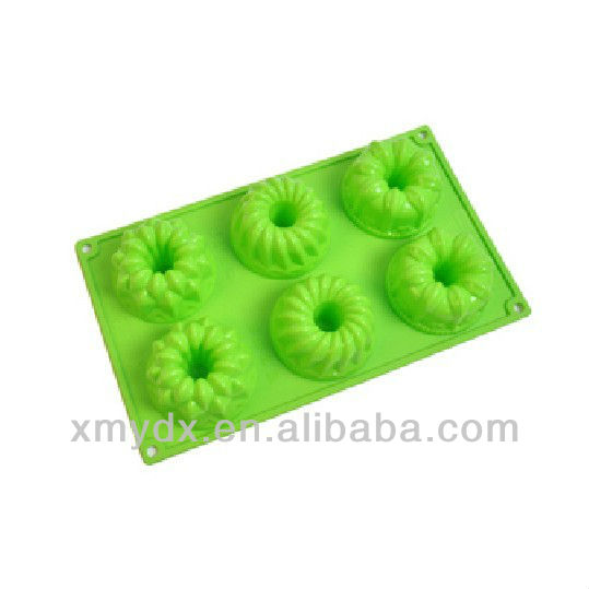 cake mold silicone, 6 cup colors cake mould, donut cake mold microwave