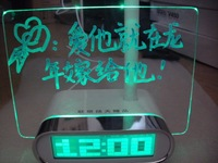HSD1140C alarm, clock can be used as message board,  with backlight calendar, Free Shipping!