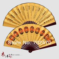 wood&paper fan,christmas gift, crafts,folk crafts,kung fu fan