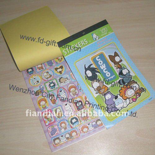 Children Cartoon Adhesive Sticker Albums