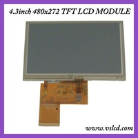 ЖК-модуль 4.3 inch tft lcd module with 4-wire Resistive Touch Panel