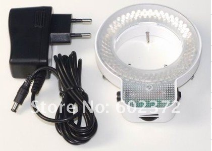 Free shipping  !  144 pcs can control LED Light  white ring microscope illumination