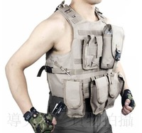 Мужской жилет 2011 hot sale men USA tactical multi-function nylon canvas mud color outdoor coat vest
