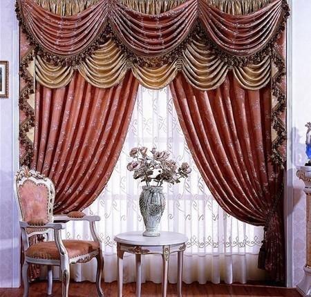 flocked organza curtain