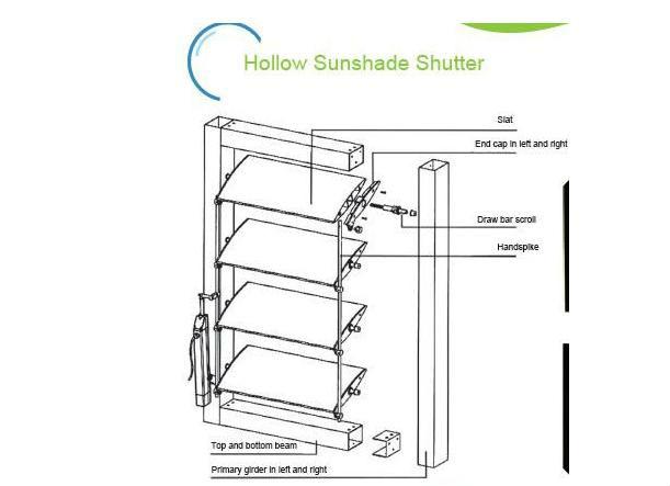 Glass Wall Protected Aluminium Shutterlouvre Buy