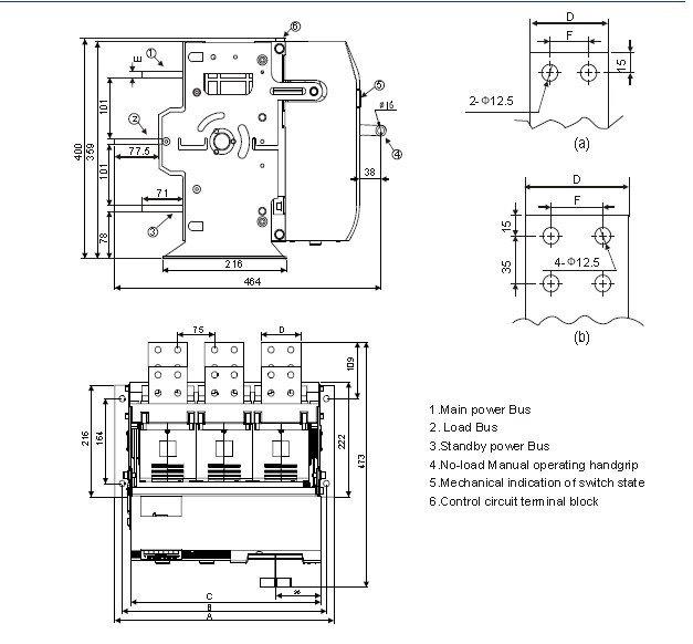 2 posiion type automatic transfer switch ats