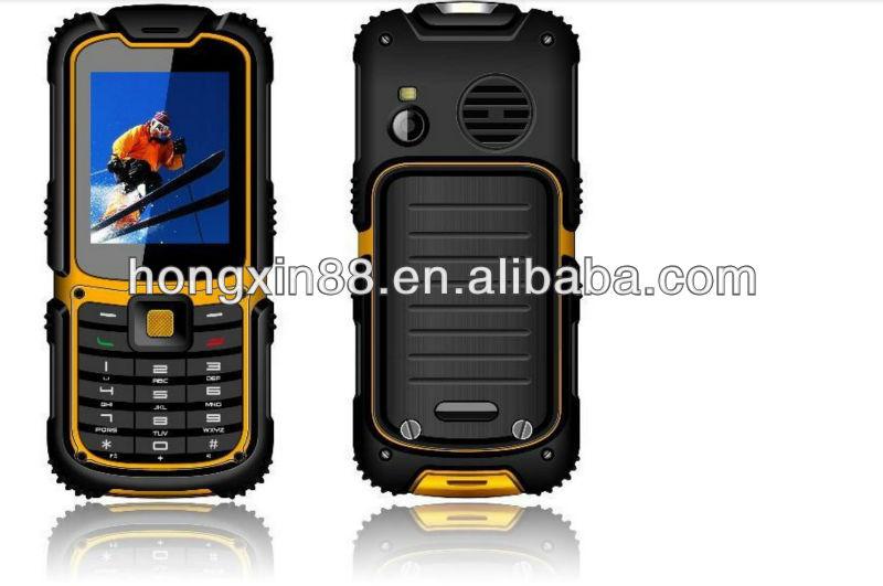 W26 mobile phone waterproof phone outdoor rugged with dual SIM bluetooth MTK6252 model