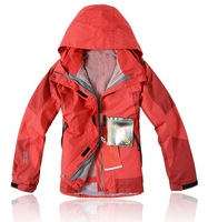 High quality Female Brand Outdoor Double Layer Windproof Waterproof Breathable Sportwear Clothes Charge Clothing PIZEX