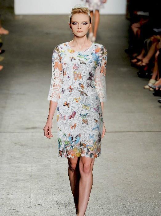 показ мод платья 2014