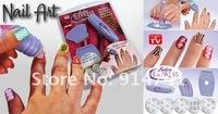 10шт салон Экспресс diy ногтей искусство украшения мода ногтей тиснения трафарет комплект / ногтей искусство наклейки Китай пост