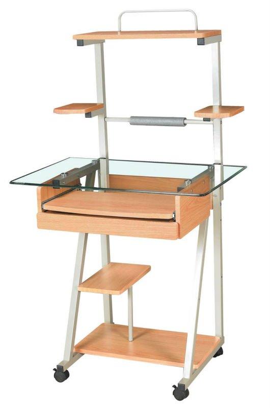 Mesa de computadora vidrio imagui for Mobiliario ergonomico para computadoras