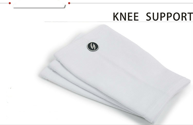 White Elastic kneecap protection