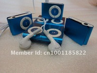 Metal mp3 clip+usb cable+earphone ,support top 8gb micro sd memory card ,free shipping  10pcs /lot