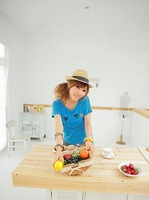 Женская футболка 2012 new style of long sleeve t - shirts, Lovely smiling face t Xu, female short sleeve T-shirt, relaxed bat Shan