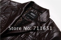 Мужские изделия из кожи и замши Best Seller Men's New Fashion Sheep Skin Jackets High-grade Coat Long-sleeved Coat Jackets