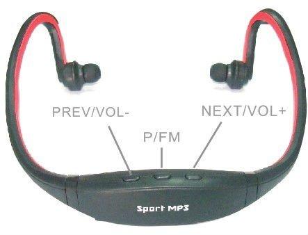 Vente chaude usine pas cher prix sport lecteur mp3 avec fm et tf musique sport mp3