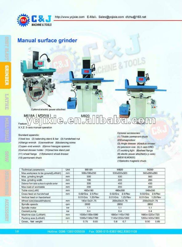 M820 HAFCO Manual Surface Grinder machine