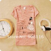 Женская футболка , t ,  4color