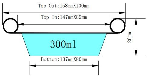 0.10mm aluminum foil lunch box