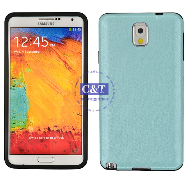 C&T Graceful like leather funny case for samsung galaxy note3