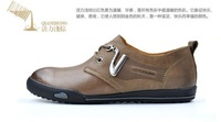 Мужские мокасины 2012 new men art work casual leisure business travel leather boots shoes GI-2397, rubber sole wearproof, top quality, size:39-44