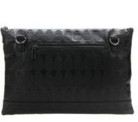 Сумка bags women handbag purse punk packet balck skeleton envelope clutch street tide own brand embossed