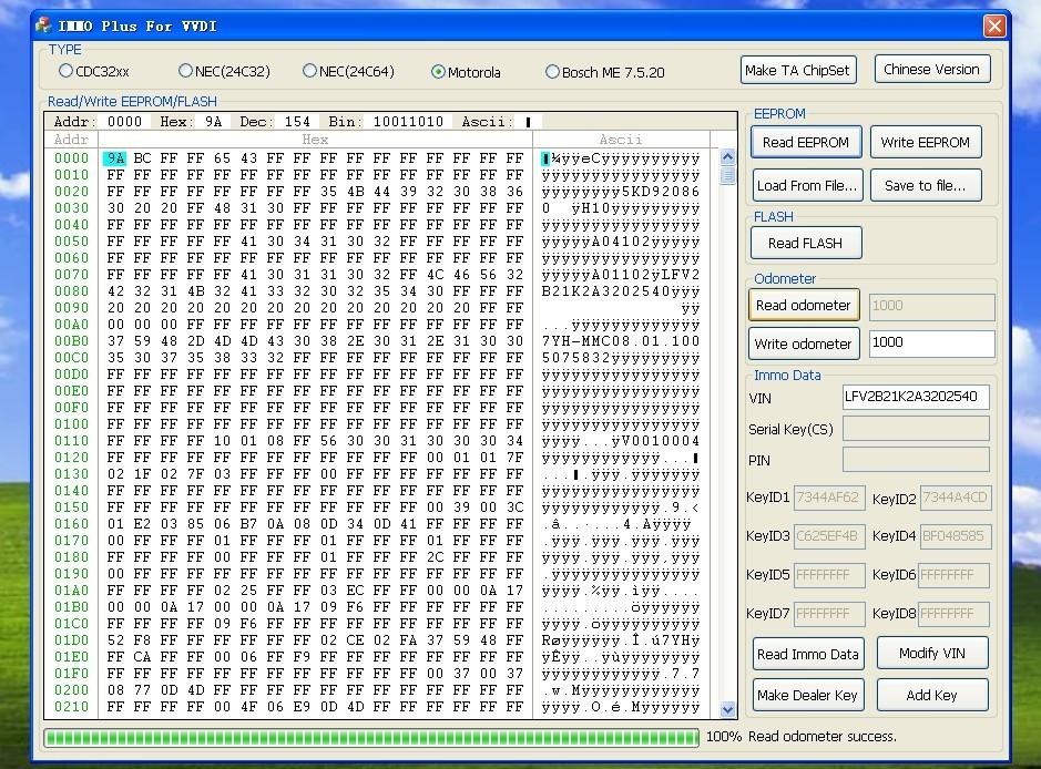 VVDI software display 4