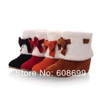Женские ботинки Factory new winter warm nubuck leather snow women boots shoes wear hxz-h-6