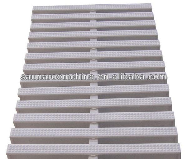 Offre largeur 18 20 25 30 cm pp mat riau blanc for Caillebotis piscine a debordement