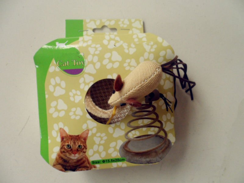 interesting sping mice scratching cat toy