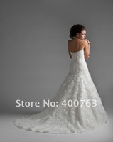 Elengant Stylish Strapless Appliques/Beadings Chiffon Winter Wedding Dresses