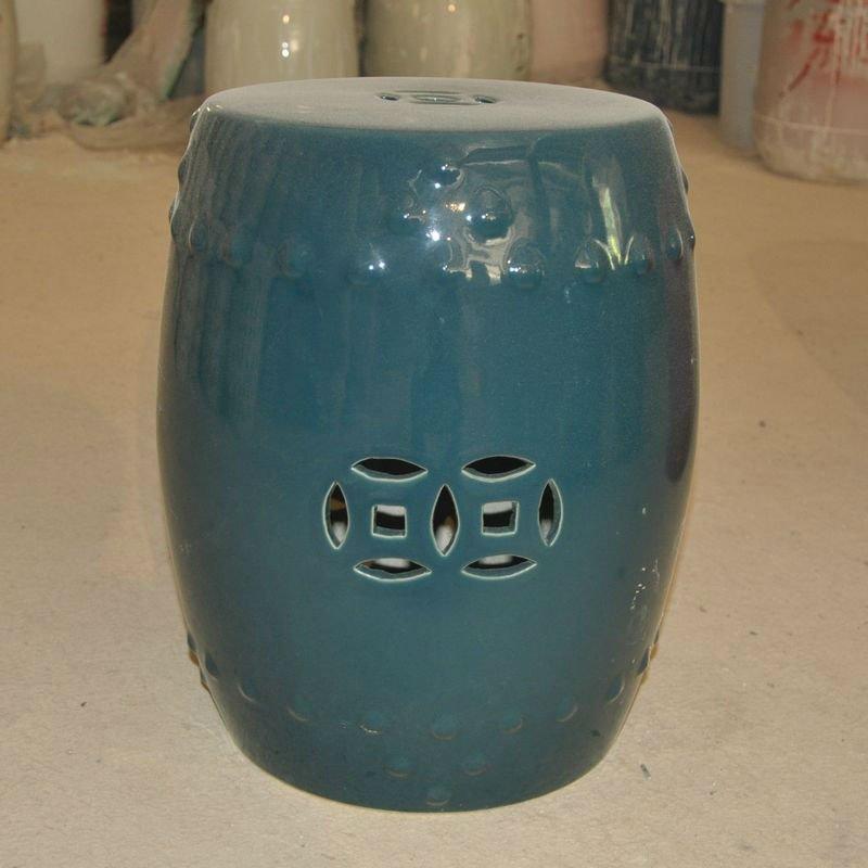 banco de jardim antigo : banco de jardim antigo: pavão mão pintada da cor de porcelana cerâmica banco para jardim