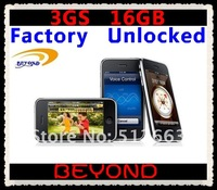 Мобильный телефон 100% Factory Unlocked original 3GS 16GB mobile phone WIFI GPS 3.2MP Black&White in sealed box dropshipping
