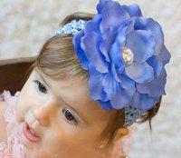 10pcs/lot милый ребенок цветок повязки младенческой хлопок волос / детские Хлопок платок / детские головные уборы / головной убор