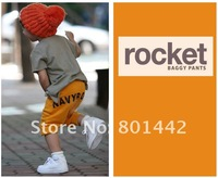 Брюки для девочек new summer children casual sports Midle pants, 5pcs/ lot Boy's Girl's letter styles pants KP002