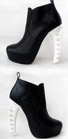 Туфли на высоком каблуке Fish bone with waterproof fashion short boots.High-heeled shoes TB 2556