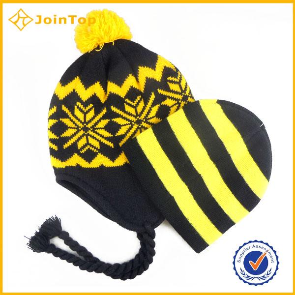 fashion custom beanie hat with ear muff