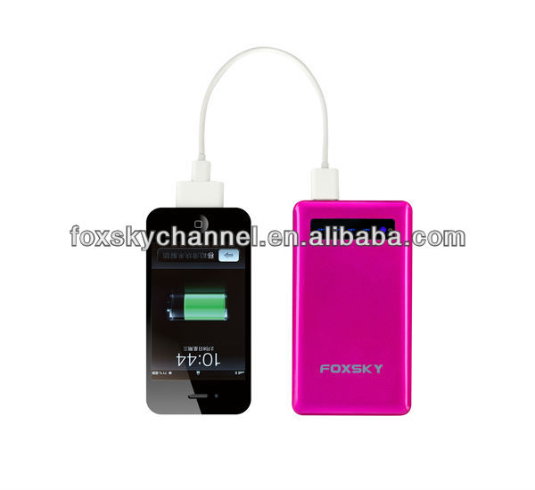 5000 mAh Emergency mobile charger universal portable power bank