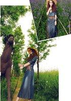 Джинсовая платье пояс женщин летние платье бренда случайных платья 3/4 длинные джинсы хлопок макси atacado roupas femininas платья