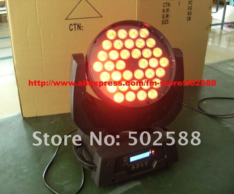 free shipping  36pcs 10W 4in1 Multi-Color led moving head light,stage lighting equipment,high power led light,led stage lighting