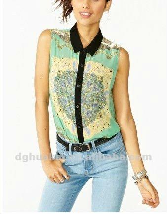 Яркие китайские блузы 86