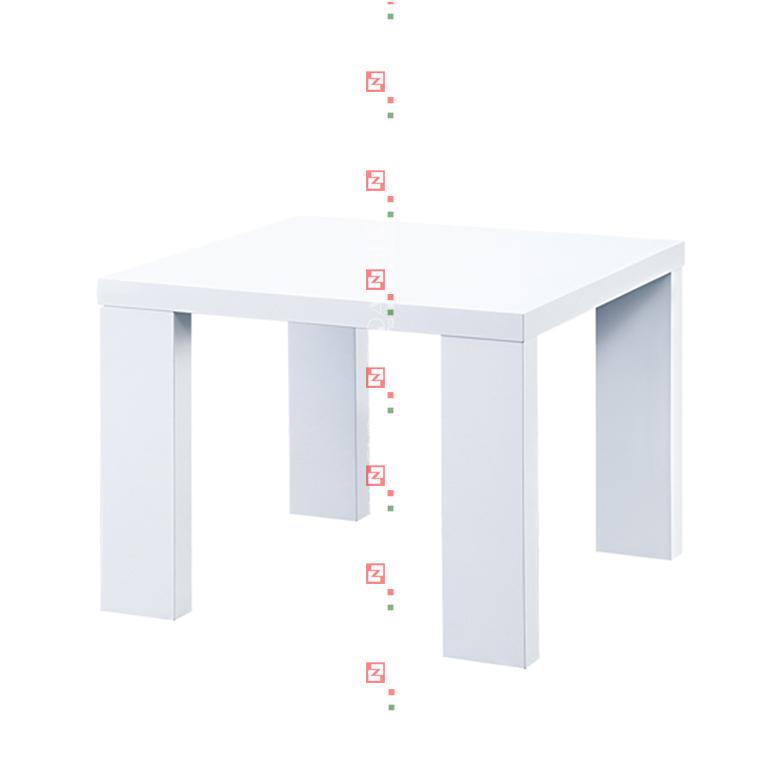 Auch bei einem japanischen Tisch können Sie die Beine baumeln lassen