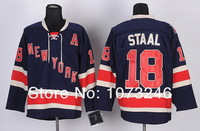 Мужская хоккейная футболка Cheap Men Ryan Callahan Dark Blue Jersey #24 Ice Hockey New York Rangers Jerseys Third All Stitched Good Quality 100%Embroidery