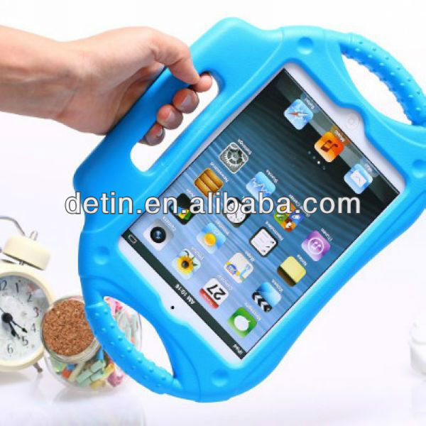2013 new products shockproof EVA case for iPad mini with hand hold made in china