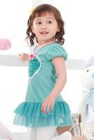 Платье для девочек Beautiful girl dress with love heart Loving heart design 2 colors: Pink and Blue Popular style