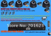 Система видеонаблюдения 4 CCD CCTV 2722