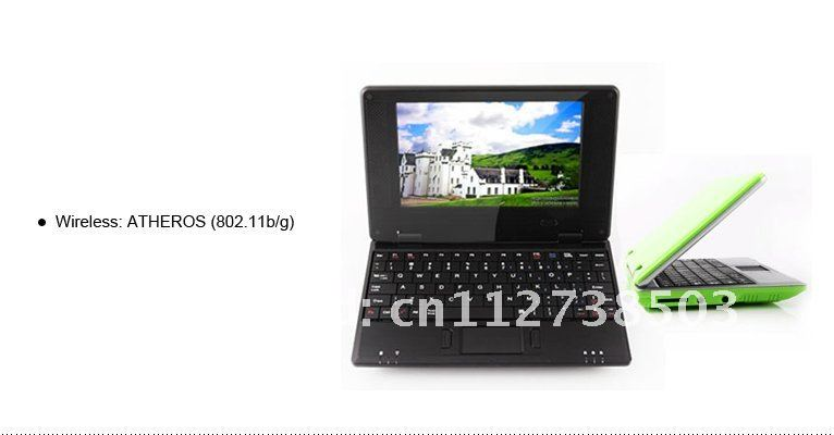 "DHL UPS Free shipping 7"" Mini laptop netbook Notebook computer 5pcs /lot"