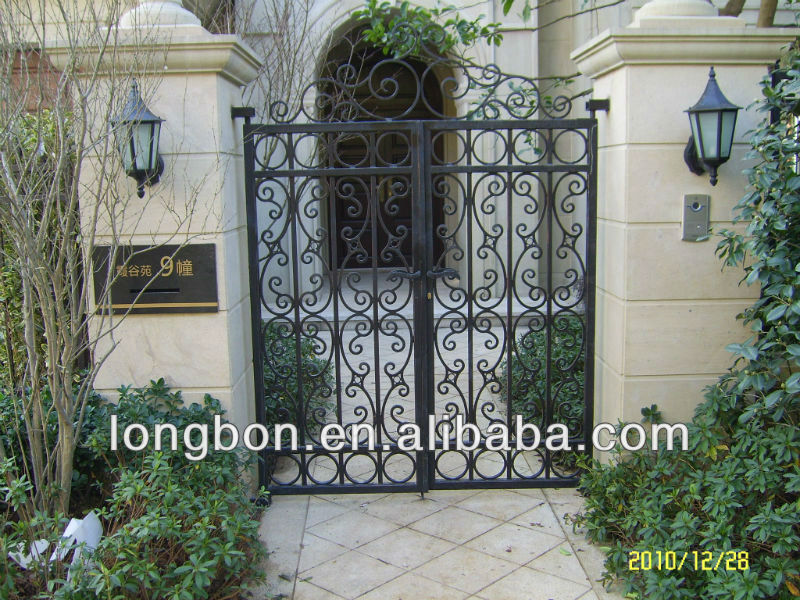 2013 Top-selling modern wrought iron home entry gate